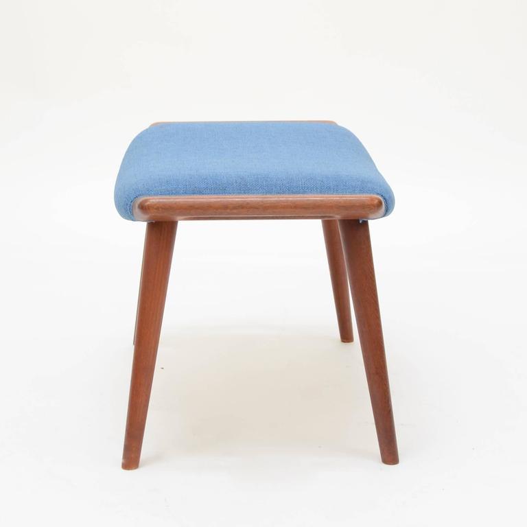 Scandinavian Modern Hans Wegner Papa Bear Ottoman or Footstool For Sale