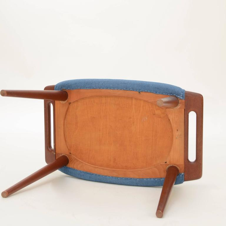 Hans Wegner Papa Bear Ottoman or Footstool In Excellent Condition For Sale In Los Angeles, CA