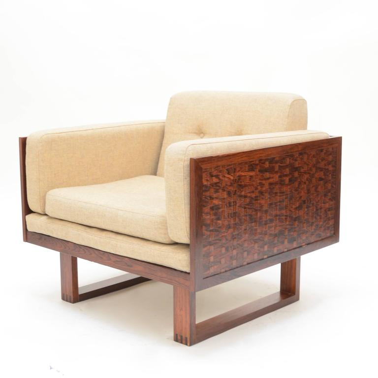 Poul Cadovius Chair in Rosewood for France & Son In Excellent Condition For Sale In Los Angeles, CA