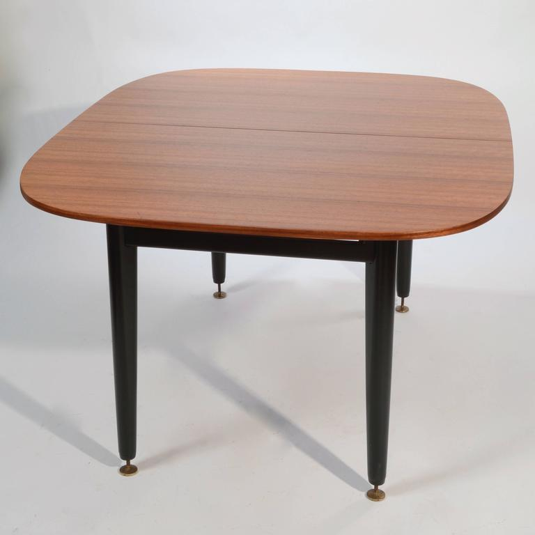 Early g plan dining table by e gomme in mahogany and black for G plan dining room furniture sale
