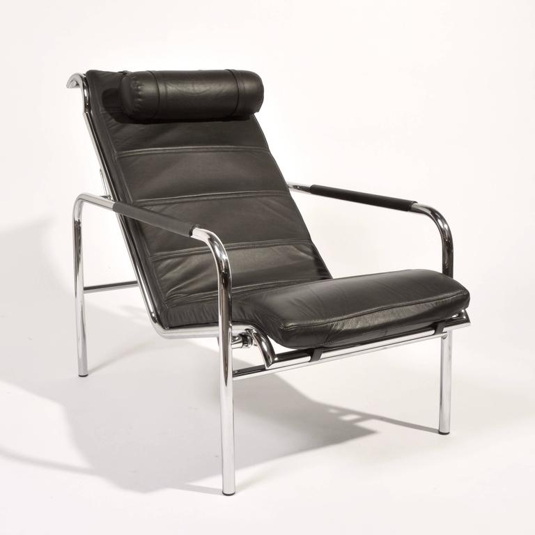 Bauhaus Genni Lounge Chair and Ottoman by Gabriele Mucchi for Zanotta For Sale