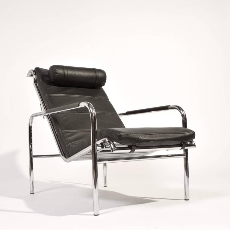 Genni Lounge Chair and Ottoman by Gabriele Mucchi for Zanotta In Excellent Condition For Sale In Los Angeles, CA