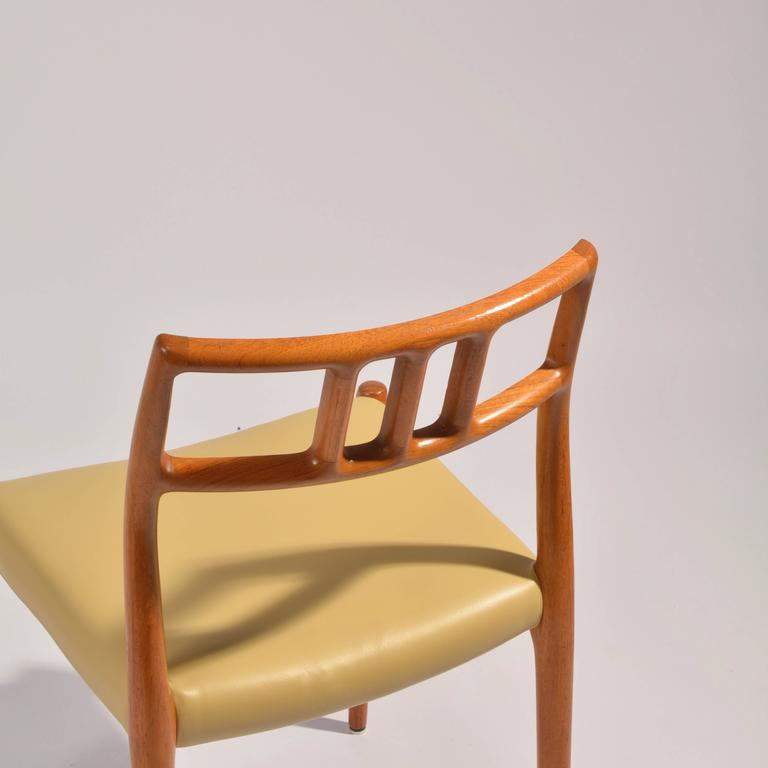 Eight J.L. Møller Model 79 Dining Chairs by Niels Møller in Leather For Sale 2