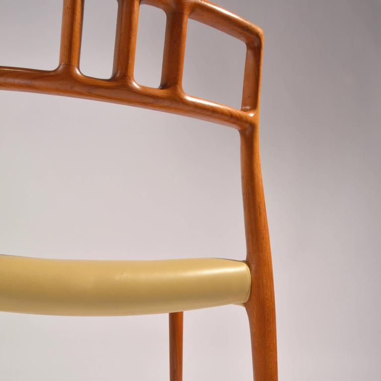 Eight J.L. Møller Model 79 Dining Chairs by Niels Møller in Leather For Sale 3