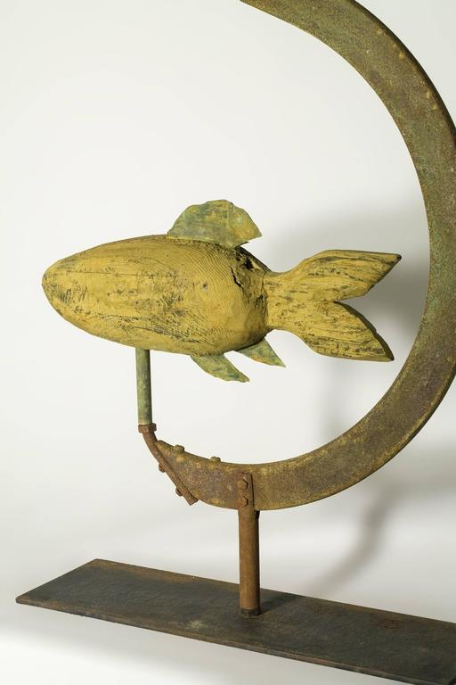 Primitive Style Fish Trade Sign At 1stdibs
