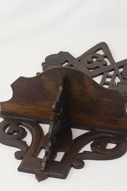 Folk Art Masonic Shelf Bracket Made Attributed to the John Haley Bellamy Workshop For Sale