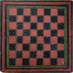 Fine Paint Decorated Double Sided Game Board