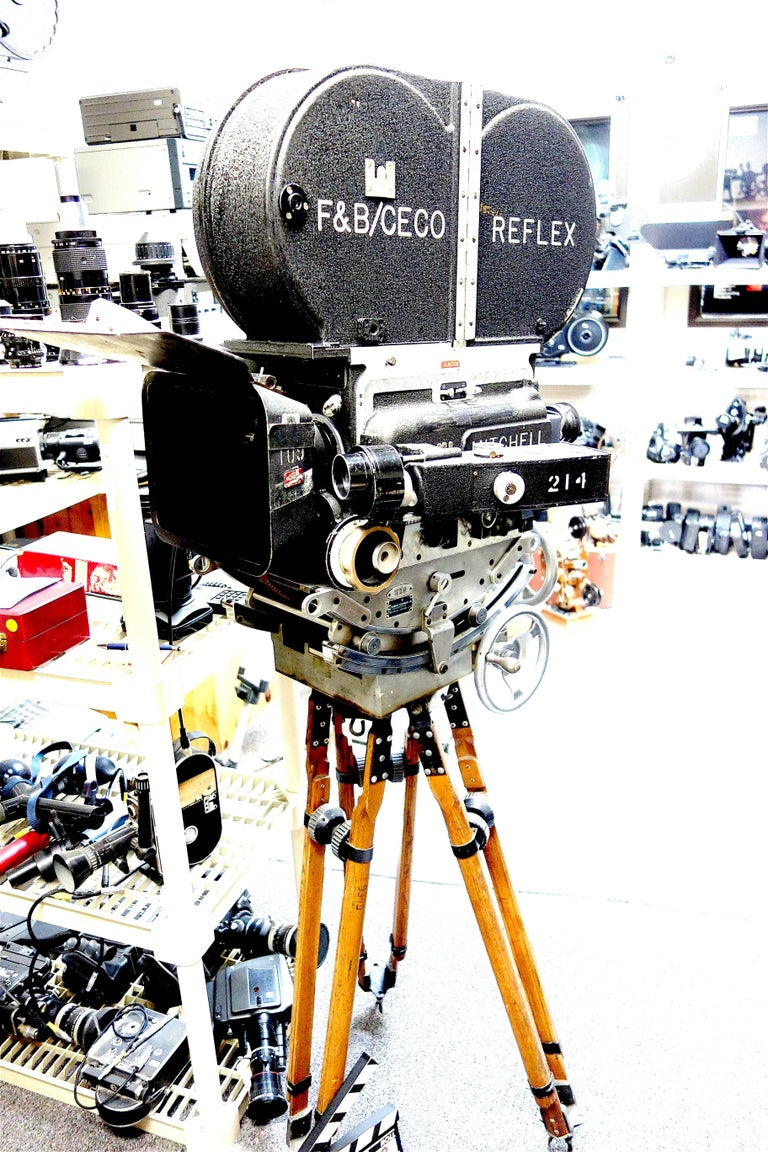 Industrial Rare Mitchell 35mm Antique Hollywood Feature Cinema Camera Package as Sculpture For Sale