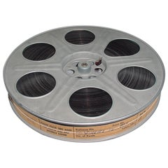 Vintage Movie Reel with Sound Motion Picture Film, Mid-20th Century, sculpture