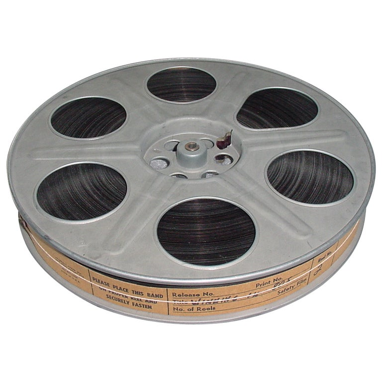 Vintage Movie Reel with Sound Motion Picture Film, Mid-20th Century, sculpture For Sale