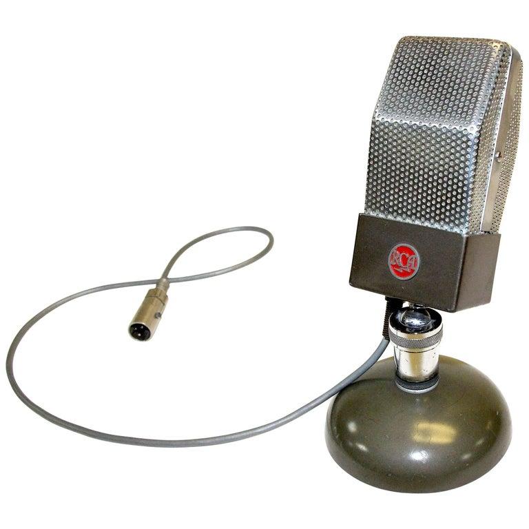 RCA Vintage Studio Microphone, Original, Iconic, circa 1930 as Display Sculpture