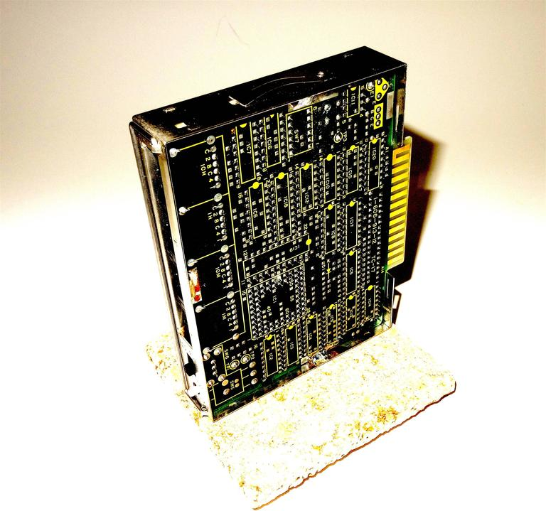 Sony circa Mid-20th Century Television Time Code Circuit Board on Stone. ON SALE In Excellent Condition For Sale In Dallas, TX