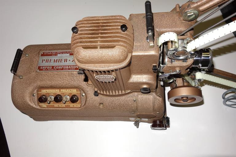 Mid-20th Century Cinema Projector, Fabulous Sculpture Display Movie Artifact, circa 1940s ON SALE For Sale