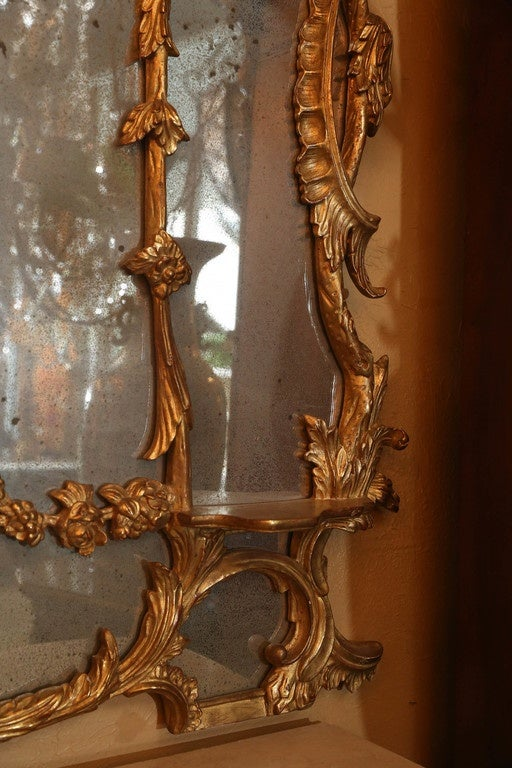 Chinese chippendale style giltwood mirror for sale at 1stdibs for Asian style mirror