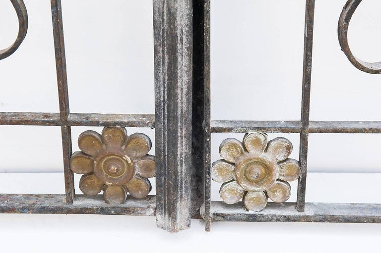 Hand-Crafted Antique Fine Little Interior Gate or Bed Headboard For Sale