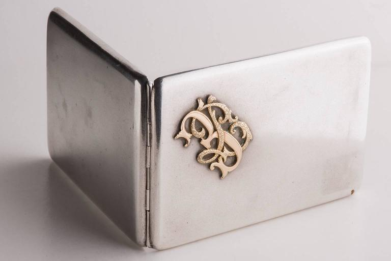Other Silver and Gold Antique Personal Card or Cigarette Holder For Sale