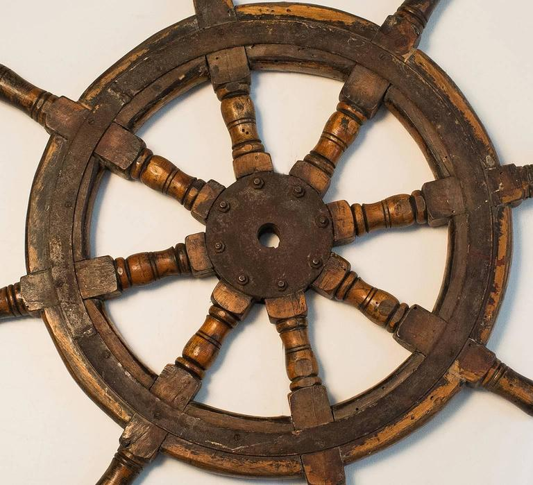 Old Boat Helm or Ship Wheel