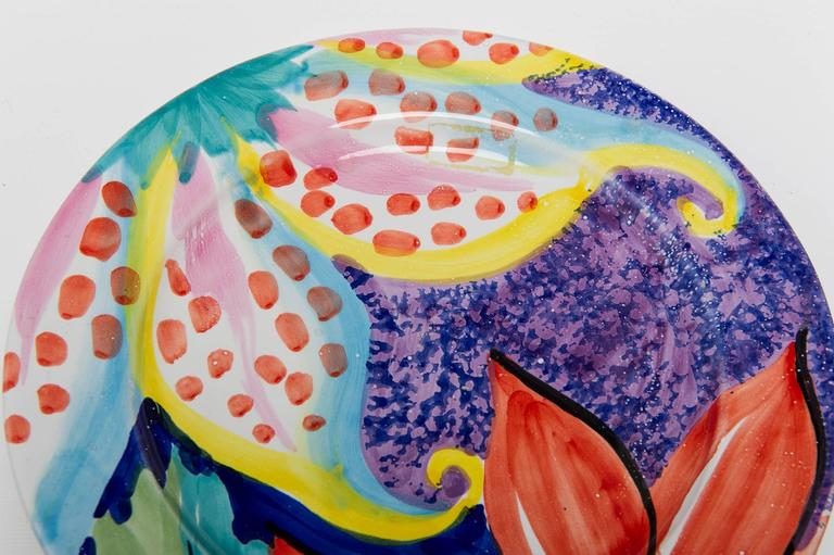 20th Century  Summer Table: Italian Hand Painted Dishes For Sale
