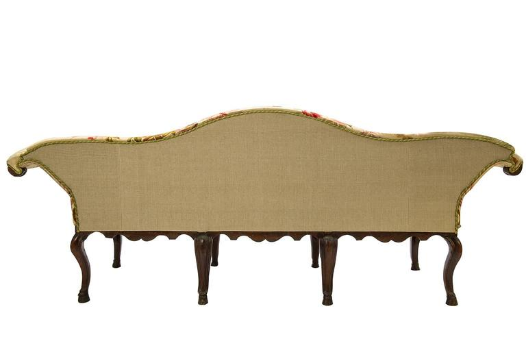 Italian Antique  Sofa Louis XV, Covered with Authentic Old Aubusson Tapestry For Sale