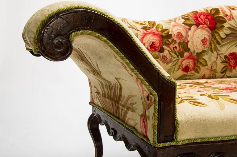1910/M, Museum quality  antique sofa, coating with an authentic Aubusson old tapestry. Unique piece!