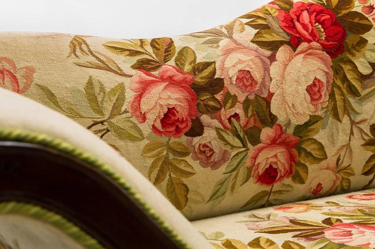 Antique  Sofa Louis XV, Covered with Authentic Old Aubusson Tapestry In Excellent Condition For Sale In Alessandria, Piemonte