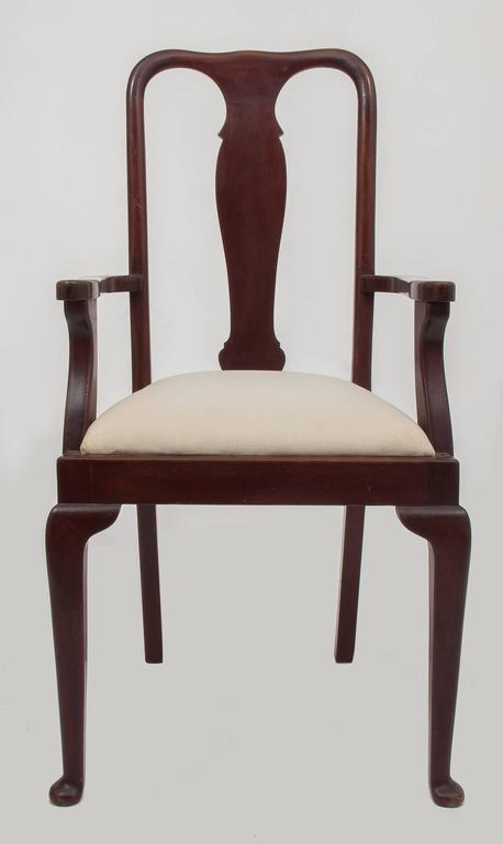 Chippendale  Old English Dining High Chairs. Complete With Other Six Chairs For Sale