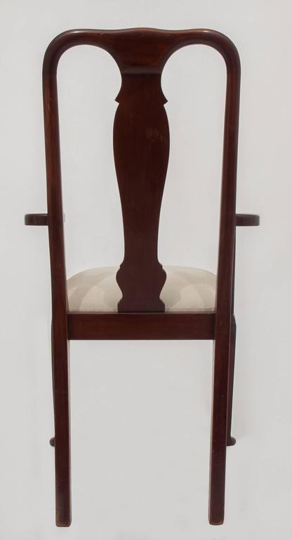 Turned  Old English Dining High Chairs. Complete With Other Six Chairs For Sale