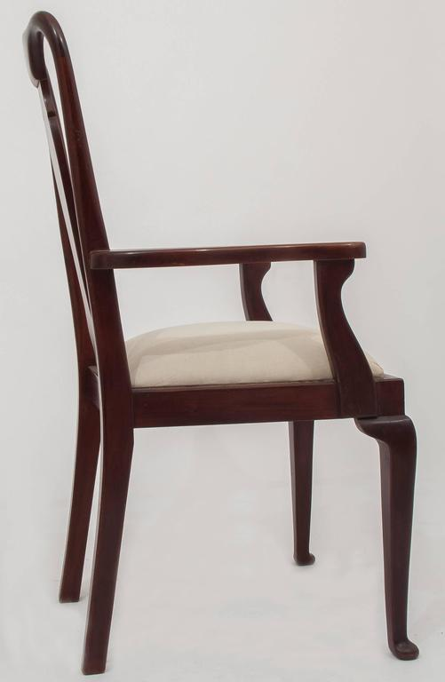 Old English Dining High Chairs. Complete With Other Six Chairs In Excellent Condition For Sale In Alessandria, Piemonte