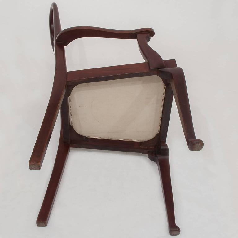Mahogany  Old English Dining High Chairs. Complete With Other Six Chairs For Sale