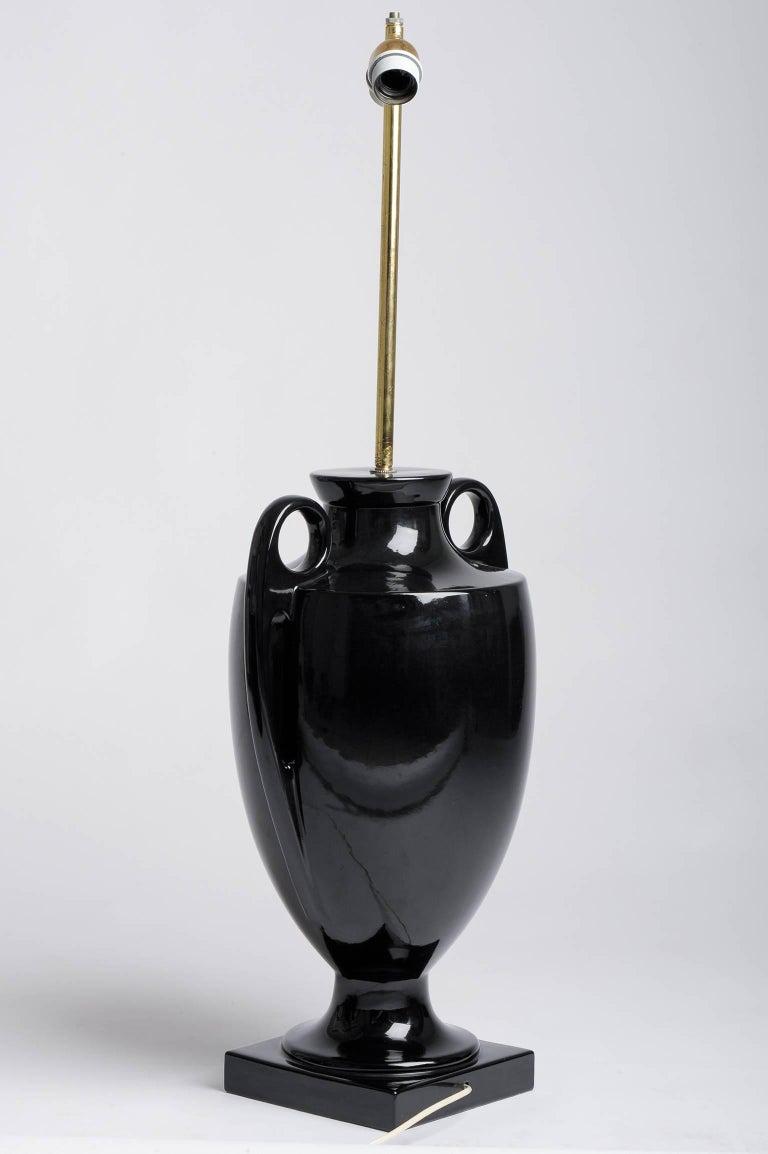 20th Century Italian Design Vintage High Black Table Lamp For Sale