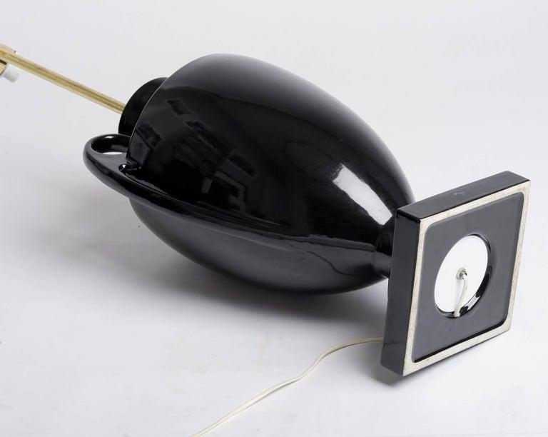 Italian Design Vintage High Black Table Lamp For Sale 1