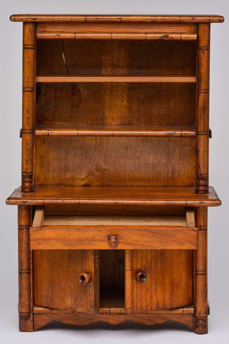 Louis Philippe Antique Miniature Model of a French Cupboard For Sale