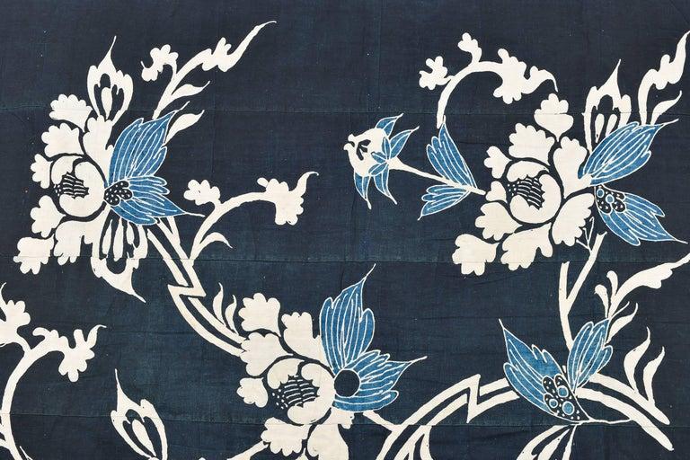 Antique rare Japanese Indigo Boro Futon Cover, Collection Piece 5