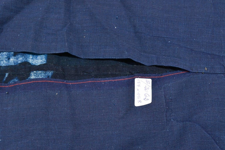 Antique collection Japanese Indigo Boro Futon cover -