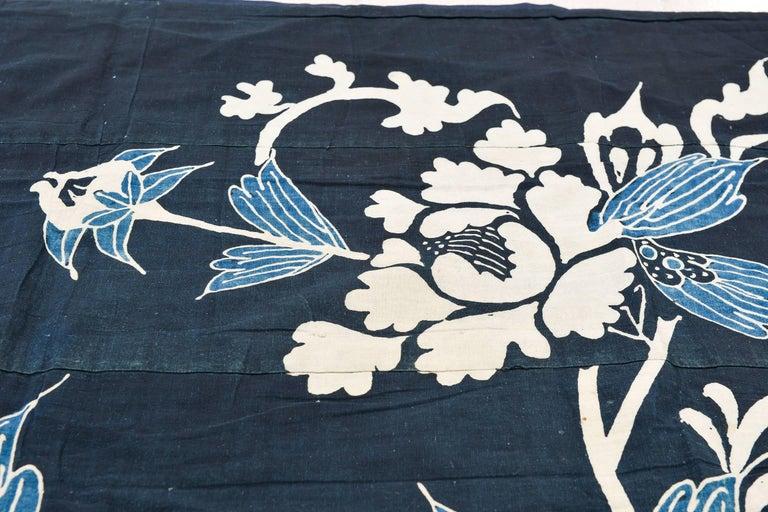 Antique rare Japanese Indigo Boro Futon Cover, Collection Piece 8