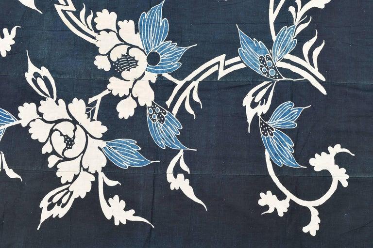 Antique rare Japanese Indigo Boro Futon Cover, Collection Piece 4