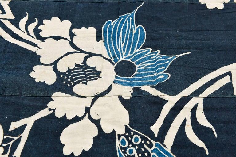 Antique rare Japanese Indigo Boro Futon Cover, Collection Piece 7