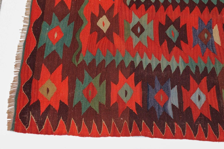 Wool Large Old Fine Turkish Kilim Sharkoy For Sale