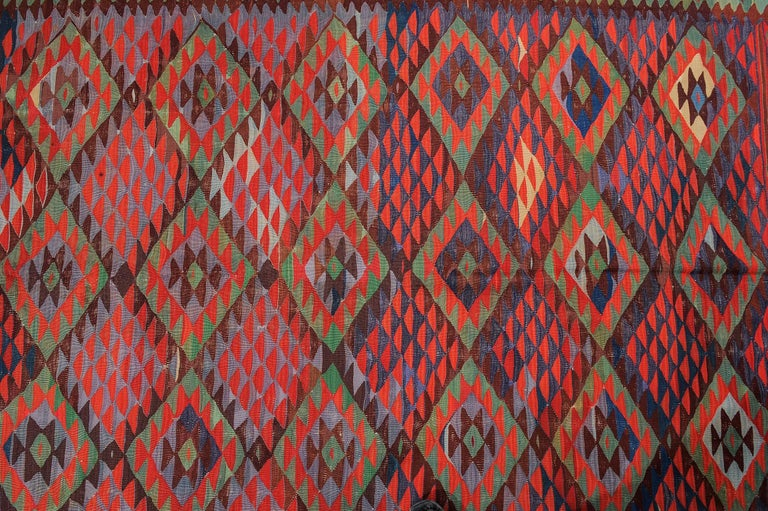 20th Century Large Old Fine Turkish Kilim Sharkoy For Sale