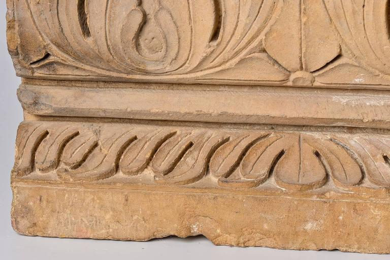 Charming antique stone architectural Mogul element, for Wall Decoration or base for unusual little table with plexi elements and glass - M/391 -