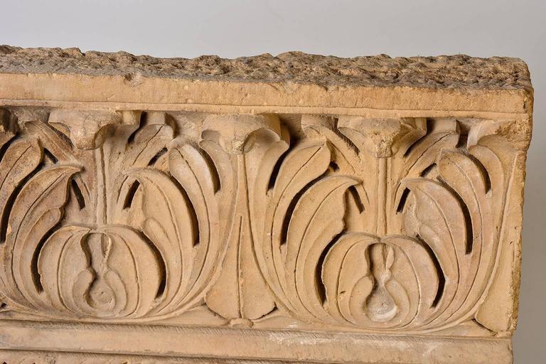 18th Century Antique Architectural Mogul Stone Panel For Sale