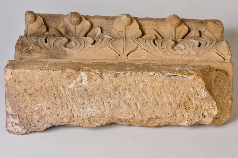 Carved Antique Architectural Mogul Stone Panel For Sale