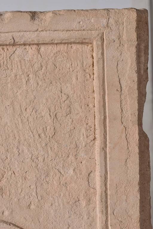 Agra Antique Cast  Architectural  Mogul Stone Panel -  For Sale