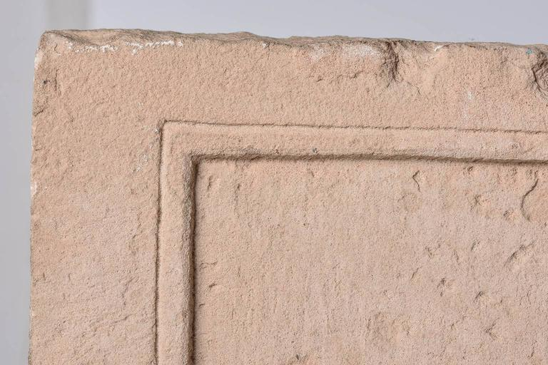 Indian Antique Cast  Architectural  Mogul Stone Panel -  For Sale