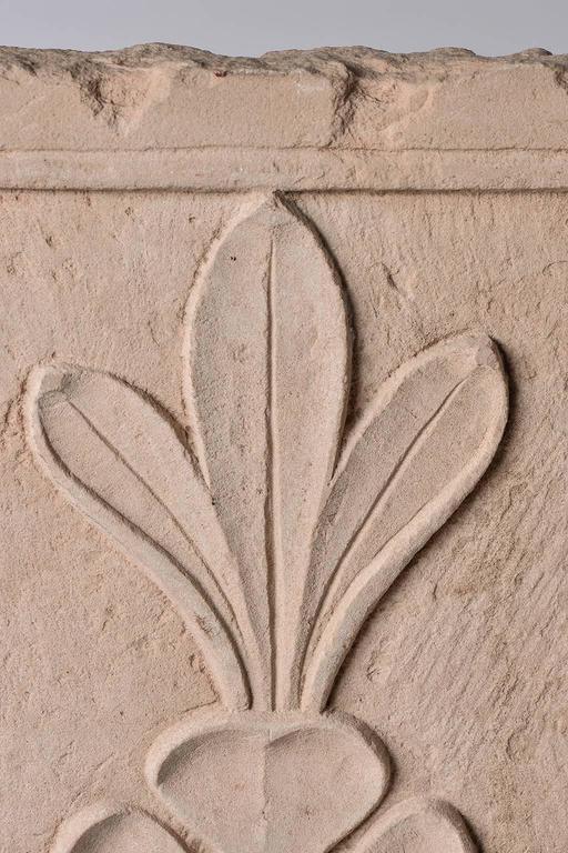 Carved Antique Cast  Architectural  Mogul Stone Panel -  For Sale