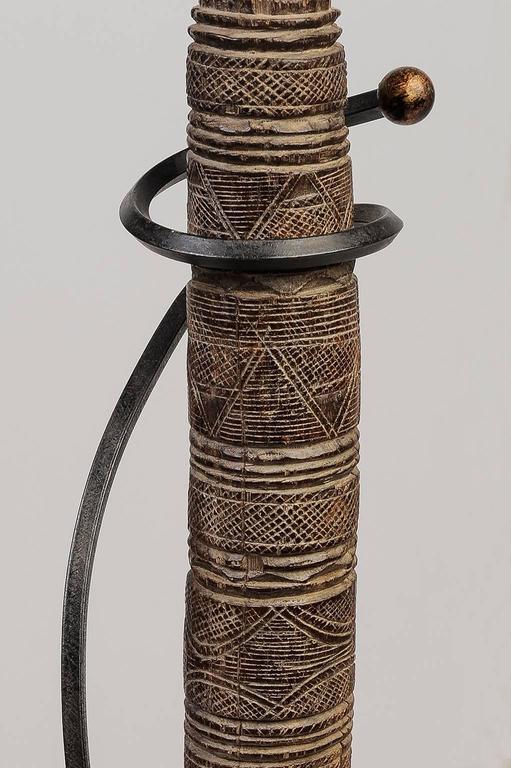 Carved Old  Berber Tuareg Tent Poles like Modern Sculpture For Sale