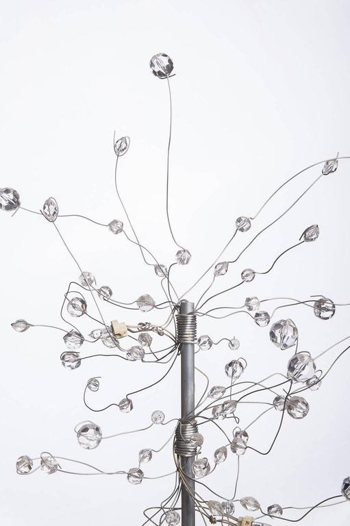 Carved  Modern Led Table Lamp by Artist Salih Mehchi For Sale