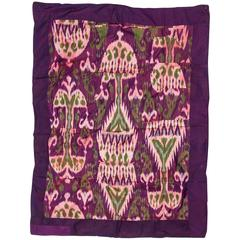 Alte Ikat Bokara Seidendecke, geeignet für Tisch, Bett oder als Wandbehang