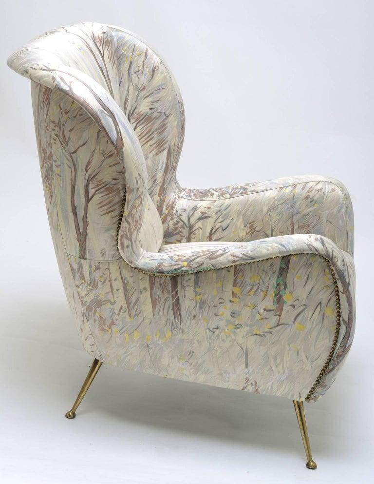 Italian Armchair in the Style of Marco Zanuso, circa 1958 For Sale