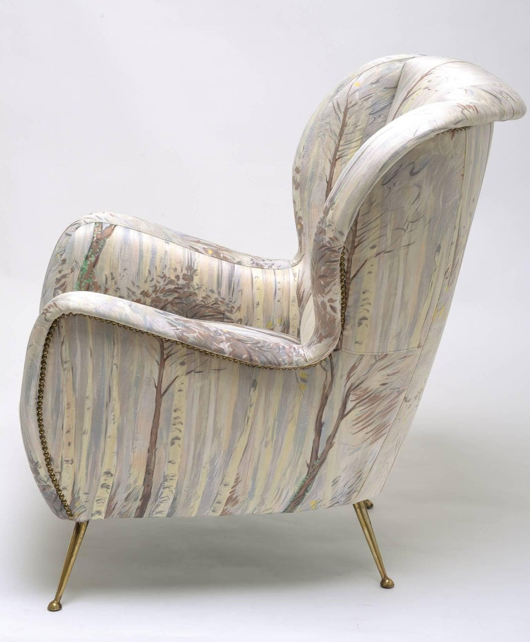 Armchair in the Style of Marco Zanuso, circa 1958 In Good Condition For Sale In Alessandria, Piemonte